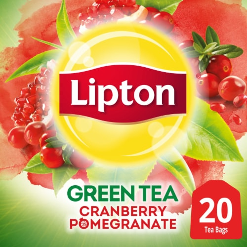 Lipton Cranberry Pomegranate Green Tea Bags Perspective: front