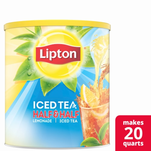 Lipton Half & Half Lemonade & Sweetened Iced Tea Mix Perspective: front
