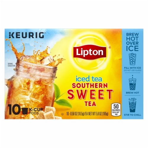 Lipton Iced Sweet Tea K-Cup Pods Perspective: front