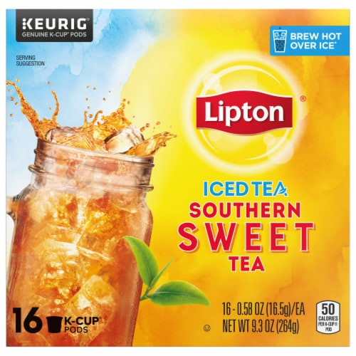 Lipton Southern Sweet Iced Tea K-Cup Pods Perspective: front