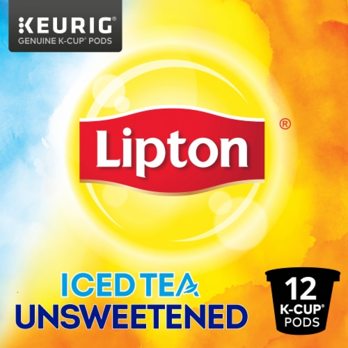 Lipton Unsweetened Iced Tea K-Cup Pods Perspective: front