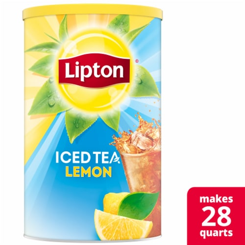 Lipton Lemon Sweetened Iced Tea Mix Perspective: front