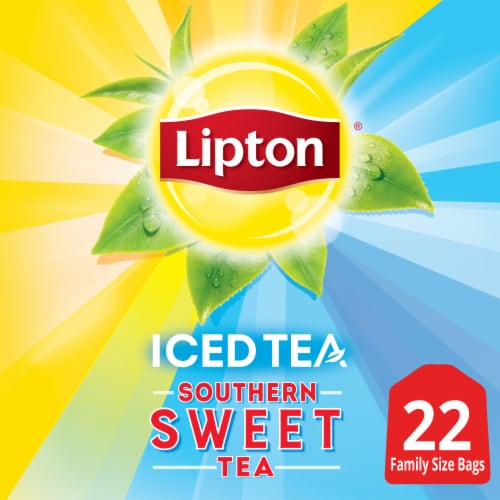 Lipton Southern Sweet Family-Sized Iced Tea Bags Perspective: front