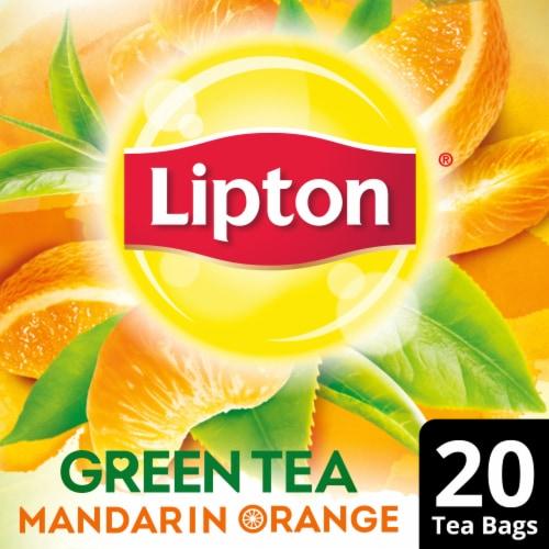 Lipton Mandarin Orange Green Tea Bags Perspective: front