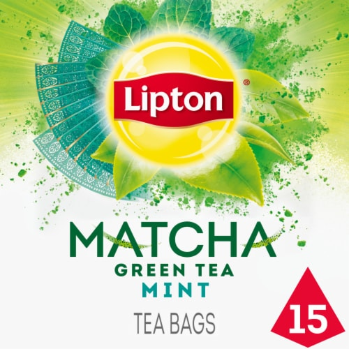 Lipton Magnificent Matcha Mint Green Tea Bags Perspective: front