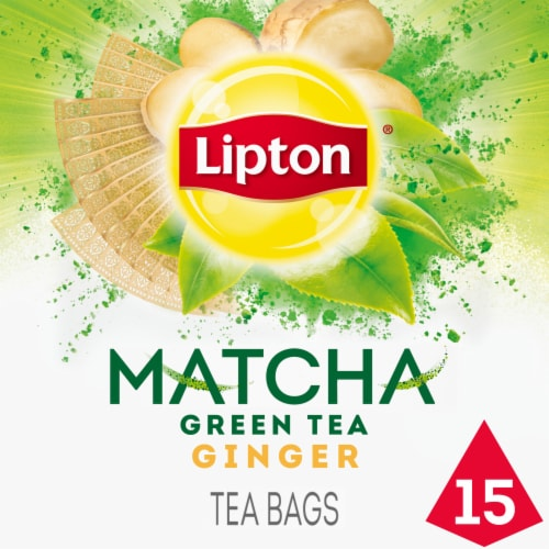 Lipton Magnificent Matcha Ginger Green Tea Bags Perspective: front