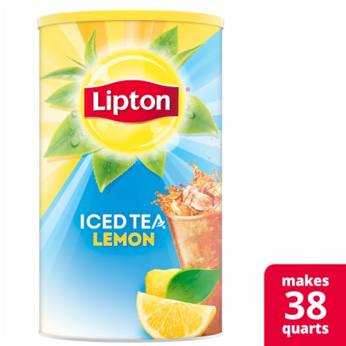 Lipton Sweetened Iced Tea with Lemon Mix Perspective: front