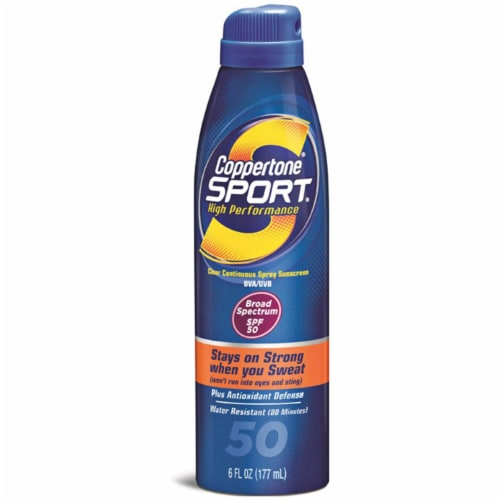 Coppertone® Sport® SPF 50 Spray Sunscreen Perspective: front