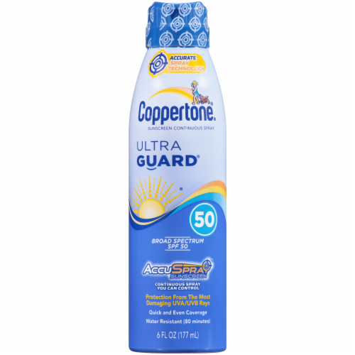 Coppertone Ultra Guard Broad Spectrum Sunscreen Spray SPF 50 Perspective: front