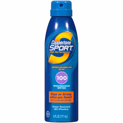 Coppertone Sport Broad Spectrum Sunscreen Spray SPF 100 Perspective: front
