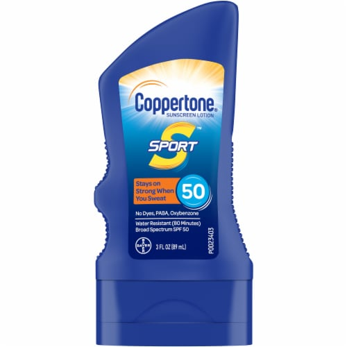 Coppertone Sport Broad Spectrum Sunscreen Lotion SPF 50 Perspective: front