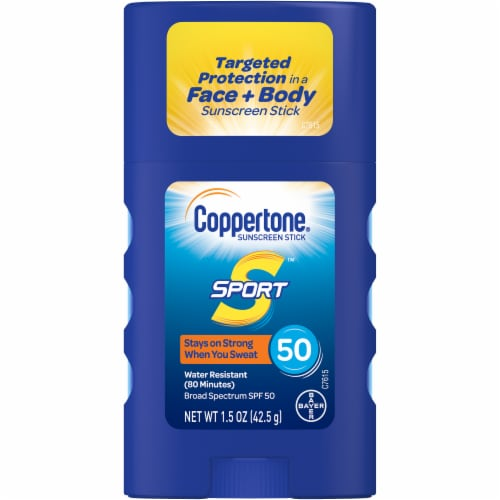 Coppertone Sport Sunscreen Stick SPF 50 Perspective: front