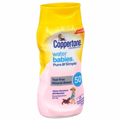 Coppertone Water Babies Broad Spectrum Sunscreen Lotion SPF 50 Perspective: front
