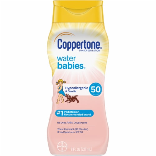 Coppertone Water Babies Sunscreen Lotion SPF 50 Perspective: front
