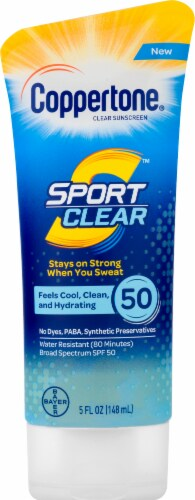 Coppertone Sport Clear Clear Sunscreen Lotion SPF 50 Perspective: front