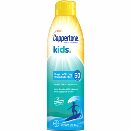 Coppertone Kids Sunscreen Spray SPF 50 Perspective: front