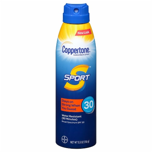 Coppertone Sport Sunscreen Spray SPF 30 Perspective: front