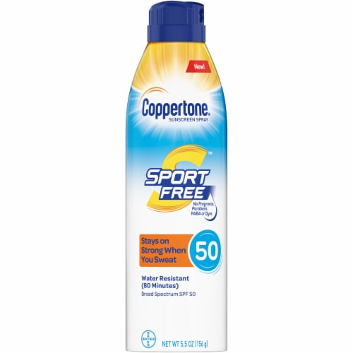Coppertone Sport Sunscreen Spray SPF 50 Perspective: front