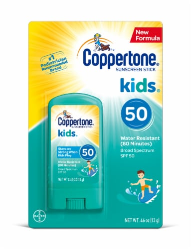 Coppertone Kids Sunscreen Stick SPF 50 Perspective: front