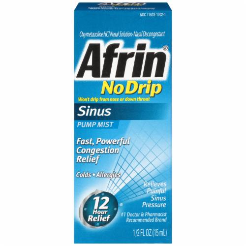 Afrin No Drip Allergy Sinus Pump Mist Nasal Decongestant Perspective: front
