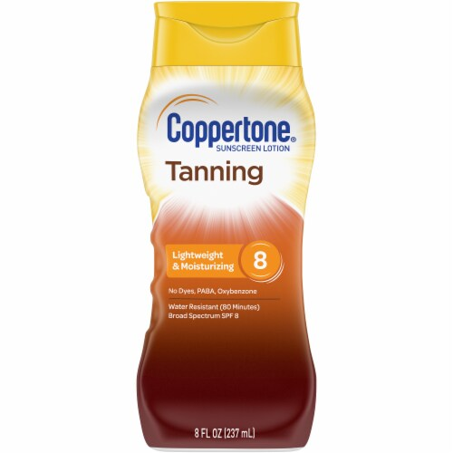 Coppertone Tanning Sunscreen Lotion SPF 8 Perspective: front