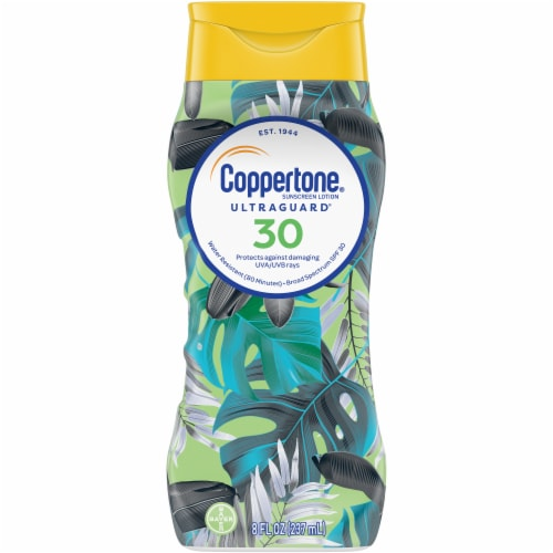 Coppertone Ultra Guard Sunscreen Lotion SPF 30 Perspective: front