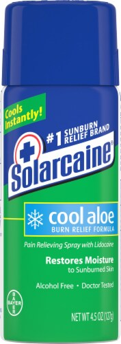 Solarcaine Cool Aloe Spray Can Perspective: front