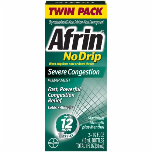 Afrin Severe Congestion Pump Mist Twin Pack Perspective: front