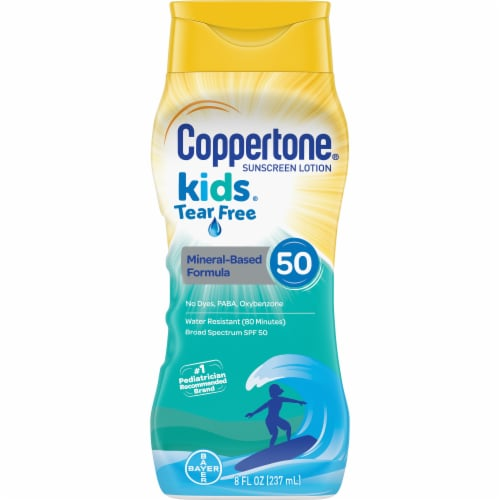Coppertone Kids Tear Free Sunscreen Lotion SPF 50 Perspective: front