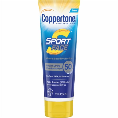 Coppertone Sport Face Sunscreen SPF 50 Perspective: front