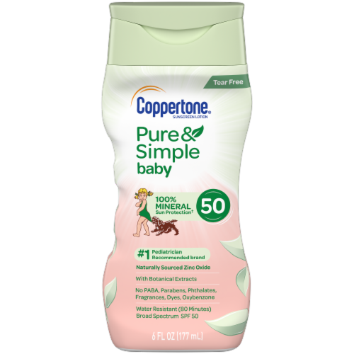 Coppertone Pure & Simple Baby Sunscreen Lotion SPF 50 Perspective: front