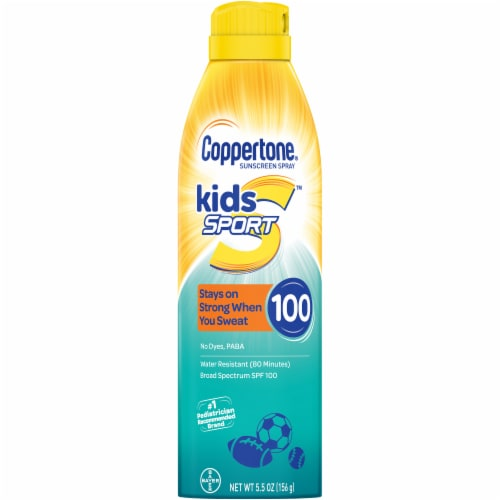 Coppertone Kids Sport Sunscreen Spray SPF 100 Perspective: front
