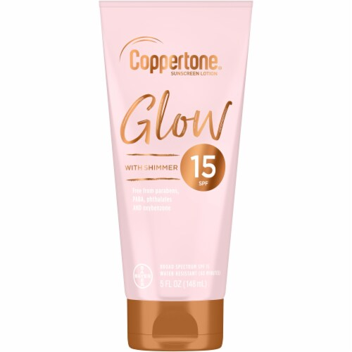 Coppertone Glow Sunscreen Lotion SPF 15 Perspective: front