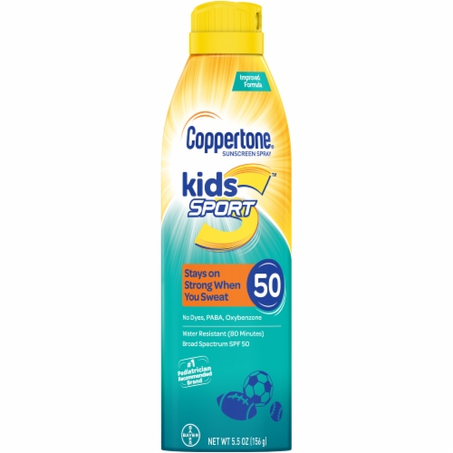 Coppertone Kids Clear Cool Blue Tint Sunscreen SPF 50 Perspective: front