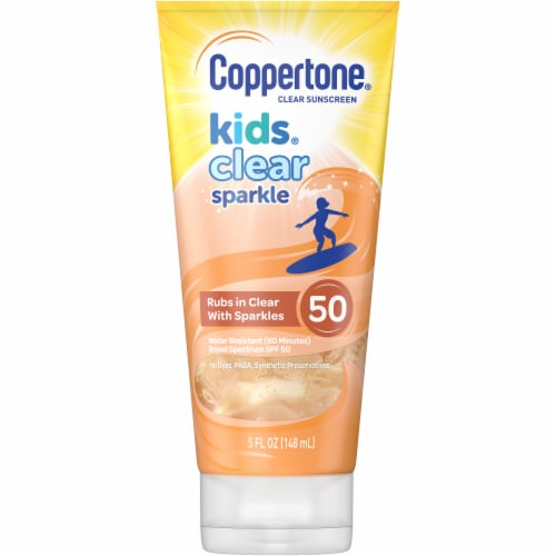 Coppertone Kids Clear Sparkle Clear Sunscreen SPF 50 Perspective: front