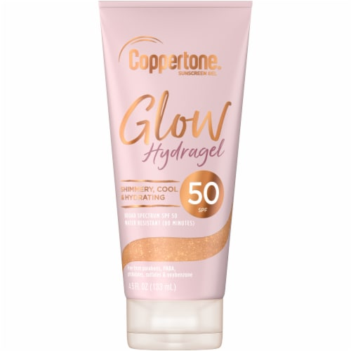 Coppertone Glow Hydragel Sunscreen Gel SPF 50 Perspective: front