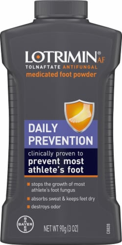 Lotrimin Daily Prevention Antifungal Medicated Foot Powder Perspective: front
