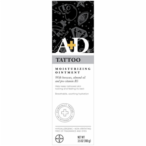 A&D Tattoo Moisturizing Ointment Perspective: front