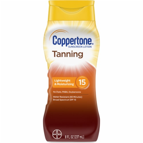 Coppertone Tanning Sunscreen Lotion SPF 15 Perspective: front