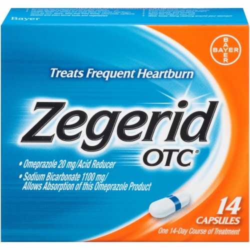 Zegerid OTC Acid Reducer Capsules Perspective: front