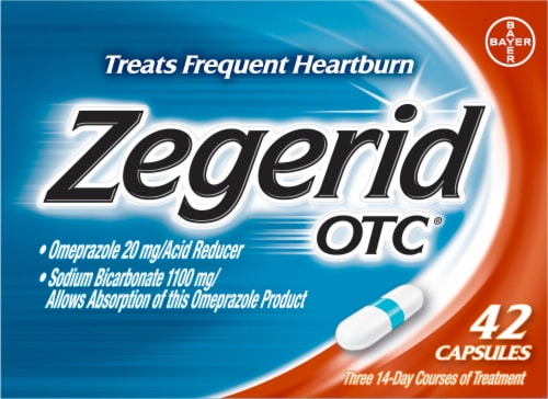 Zegerid OTC Acid Reducer Capsules Perspective: front
