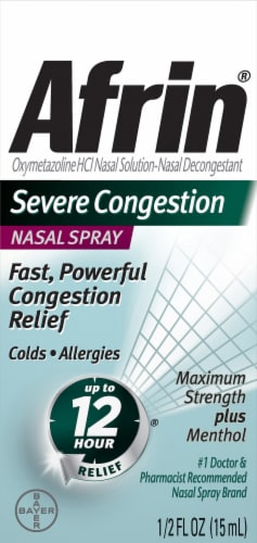 Afrin Severe Congestion Nasal Spray Perspective: front