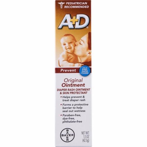 A+D Prevent Original Diaper Rash Ointment & Skin Protectant Perspective: front