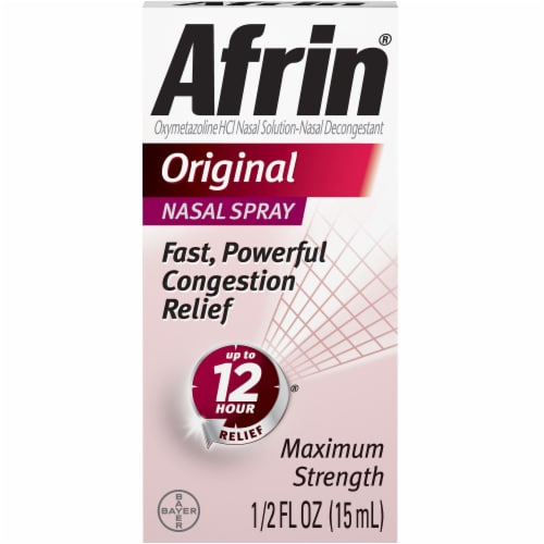 Afrin Original Maximum Strength Nasal Spray Perspective: front