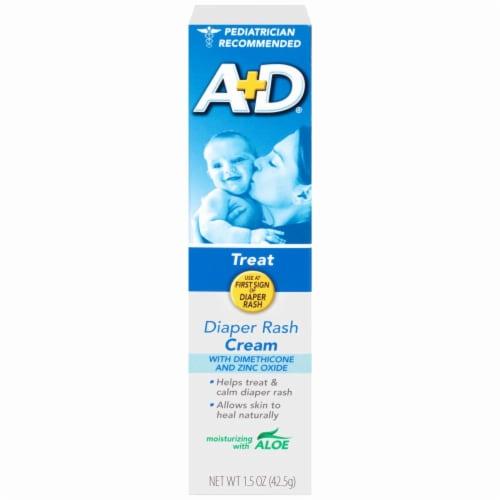A+D Treat Diaper Rash Cream Perspective: front