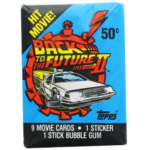 Back to the Future II 1989 Topps Single Trading Card Pack Perspective: front