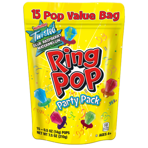 Ring Pop Party Pack Pops Value Pack Perspective: front