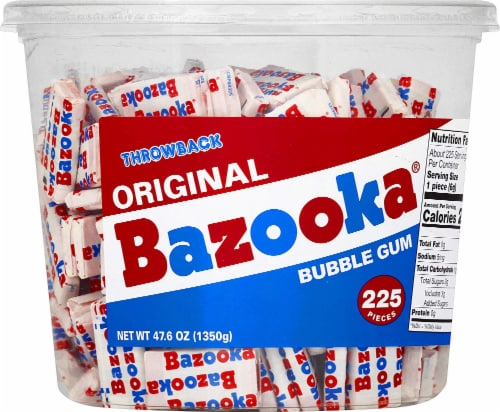 Bazooka Original Bubble Gum 225 Count Perspective: front