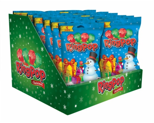 Ring Pop Christmas Candy (4 Pack) Perspective: front