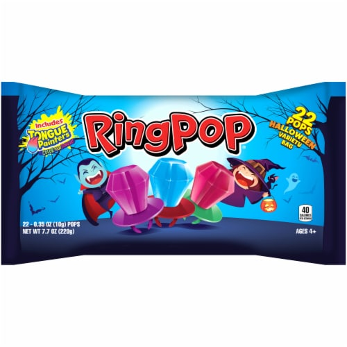 Ring Pop Halloween Variety Bag Perspective: front